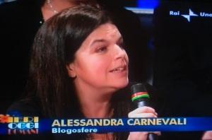 Alessandra Carnevali, quando era blogger e la invitavano alle trasmissioni importanti, mica gli Sprassolati...