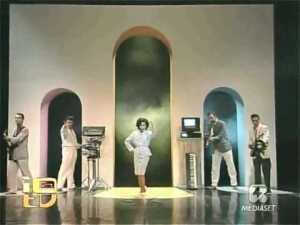 """I Matia Bazar in un'apparizione televisiva all'epoca di """"Tango"""""""