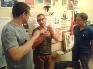 Amici miei. Da sinistra Emilio Burli, Gianfranco Pigozzi e Pierfrancesco P.F. Fusari