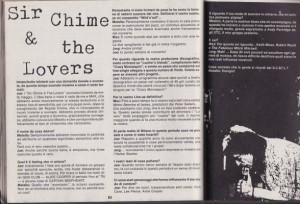 """L'intervista ai Sir Chime and the Lovers comparsa nel 1987 nel raro n.1 della rivista """"Vinile"""" (collezione privata Kappa)"""